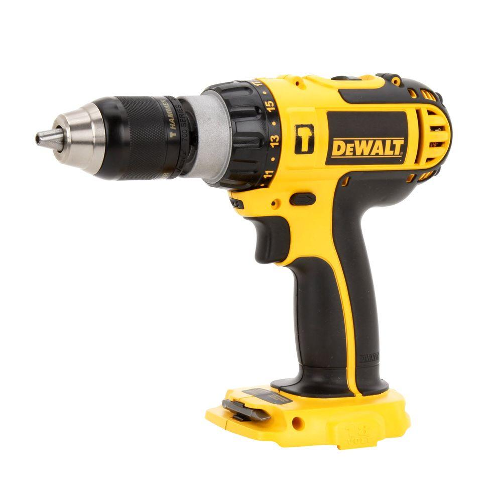 DEWALT 18-Volt 1/2 in. (13 mm) Cordless Compact Hammer Drill (Tool-Only)