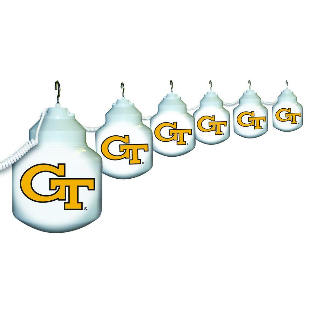 Polymer Products 6-Light Outdoor Georgia Tech String Light Set-NCAA-GT617404 -