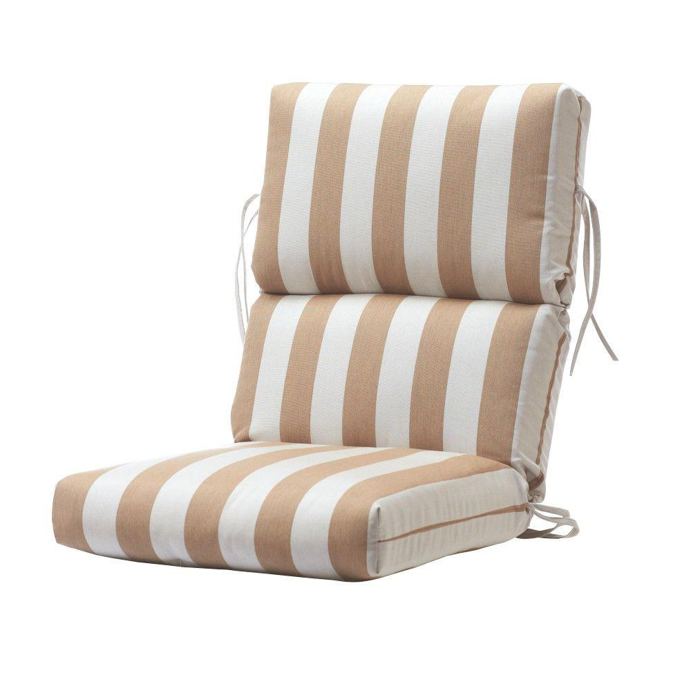 Home Decorators Collection Sunbrella Maxim Heather Beige Outdoor Lounge Chair