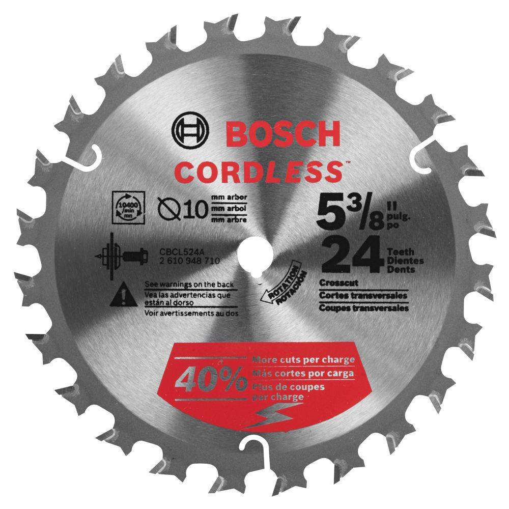 Bosch 5-3/8 in. 24 Tooth Cordless Circular Saw Blade