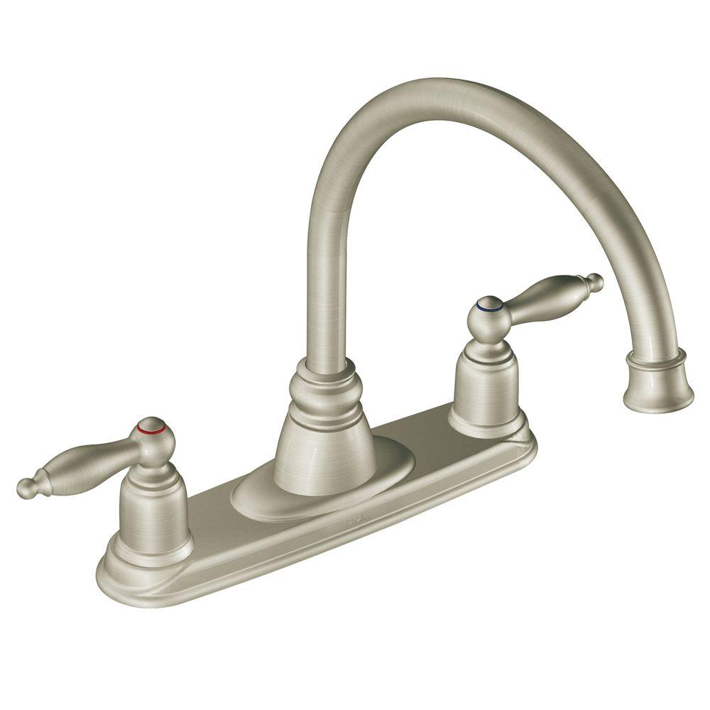 MOEN Castleby 2-Handle Kitchen Faucet in Stainless Steel-DISCONTINUED