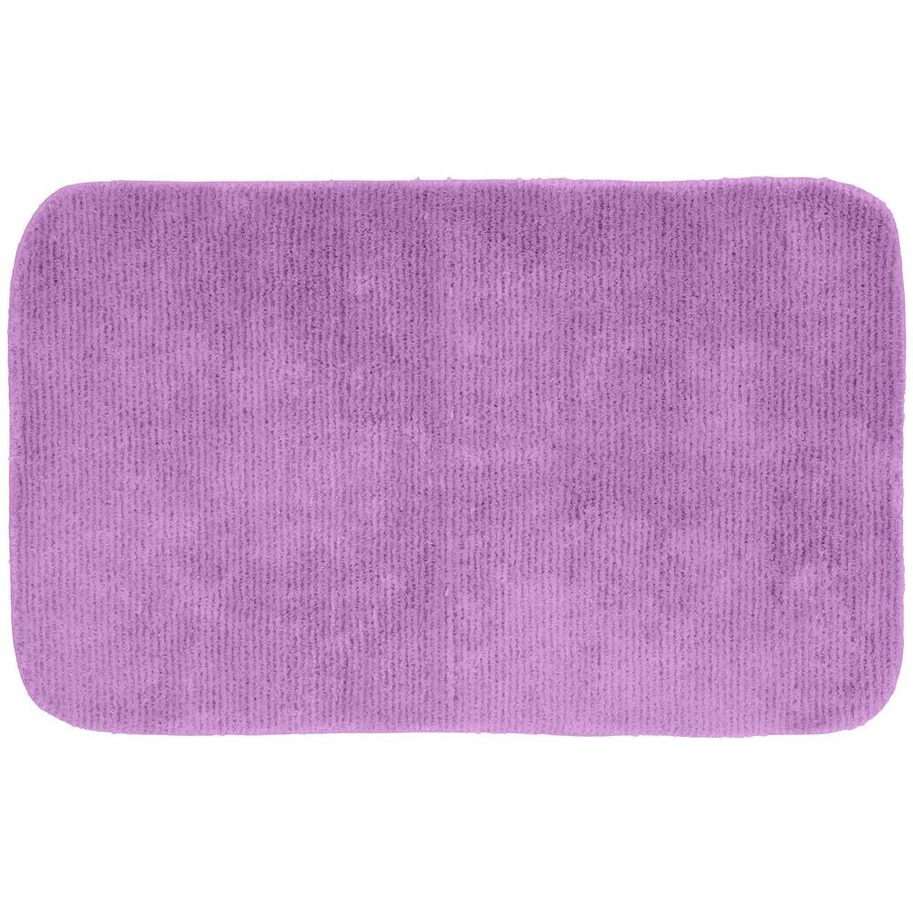 Glamor Purple 24 in. x 40 in. Washable Bathroom Accent Rug