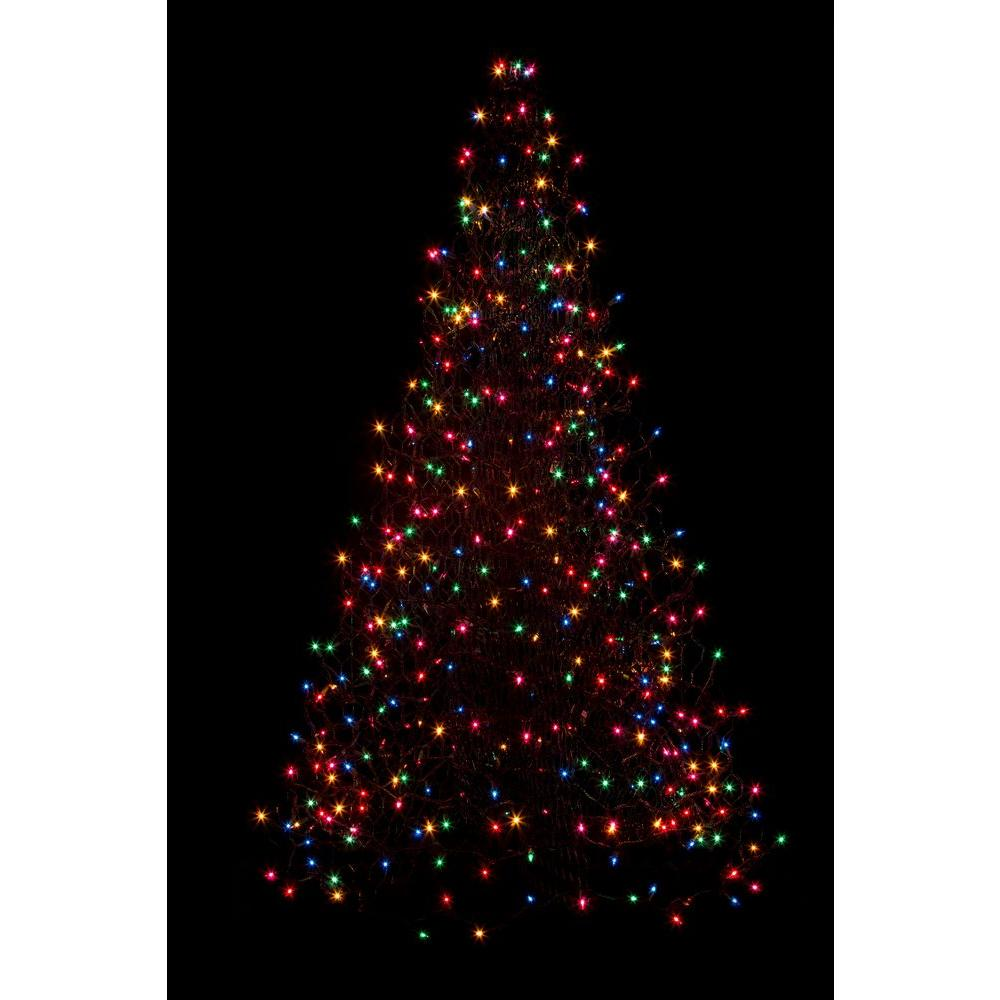 5 ft. Pre-Lit Incandescent Artificial Christmas Tree with 280 Multi-Color Lights