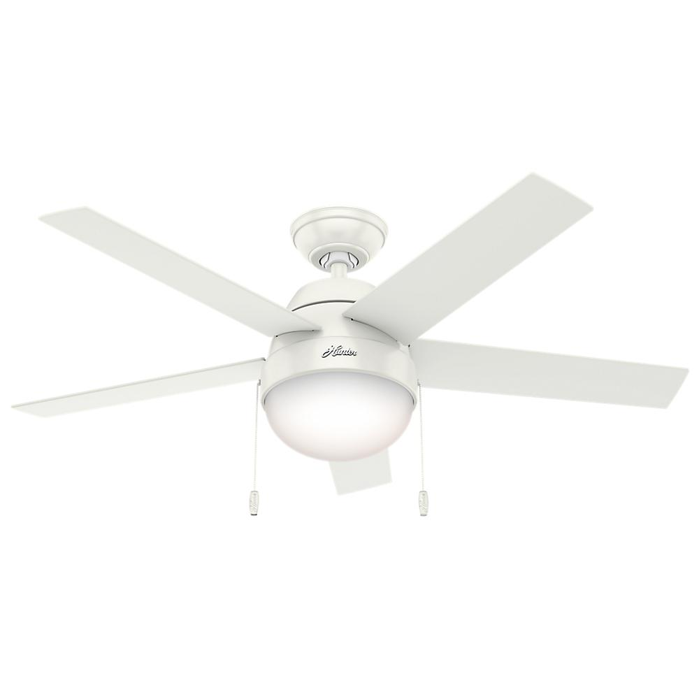 Hunter Anslee 46 in. Indoor Fresh White Ceiling Fan-59266 - The