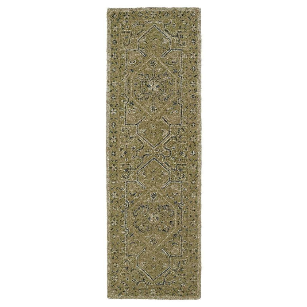 Montage Green 2 ft. 6 in. x 8 ft. Runner