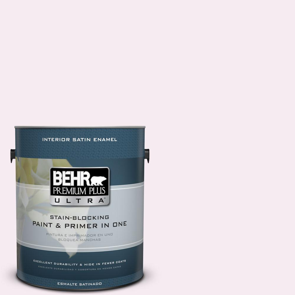 1-gal. #100A-1 Barely Pink Satin Enamel Interior Paint
