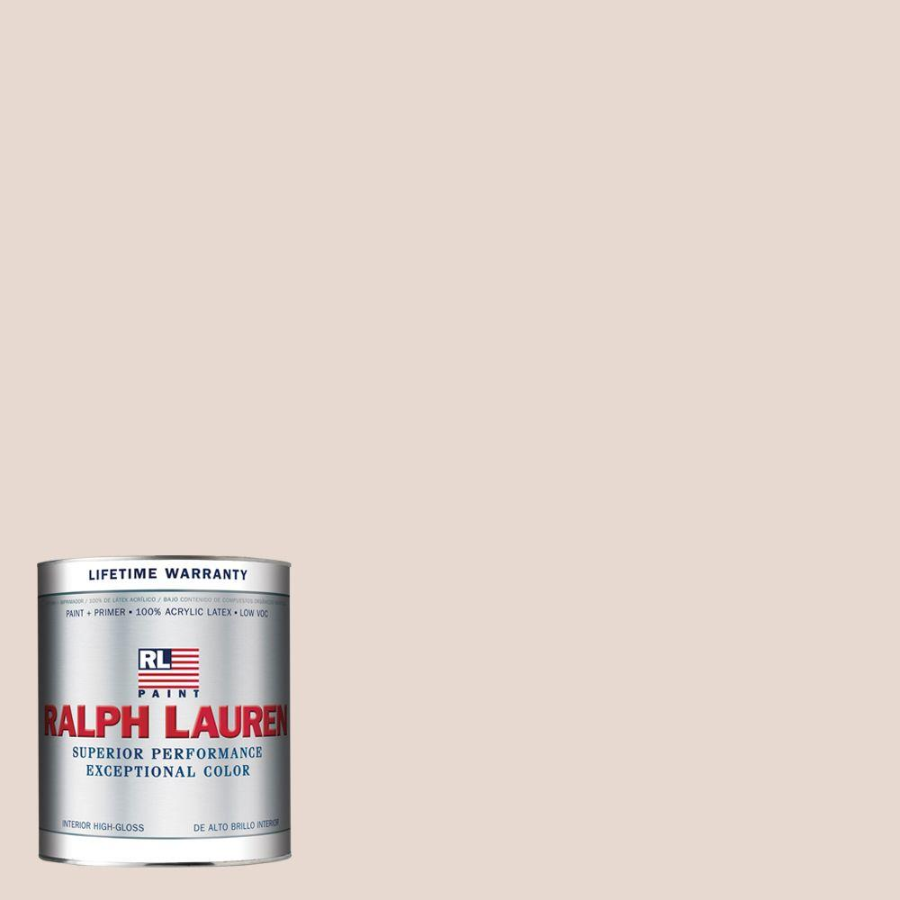 Ralph Lauren 1-qt. Cameo Pink Hi-Gloss Interior Paint-RL2225-04H - The Home