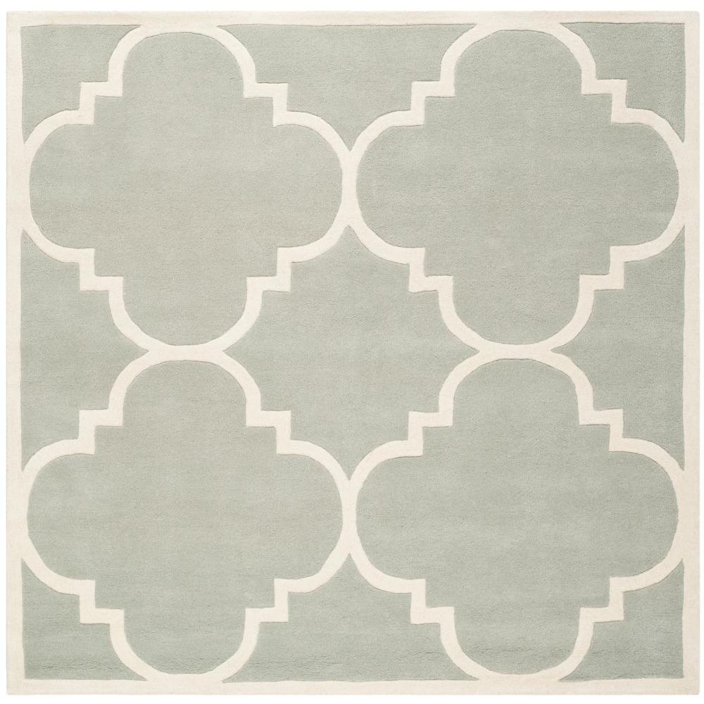 Chatham Grey/Ivory 4 ft. x 4 ft. Square Area Rug