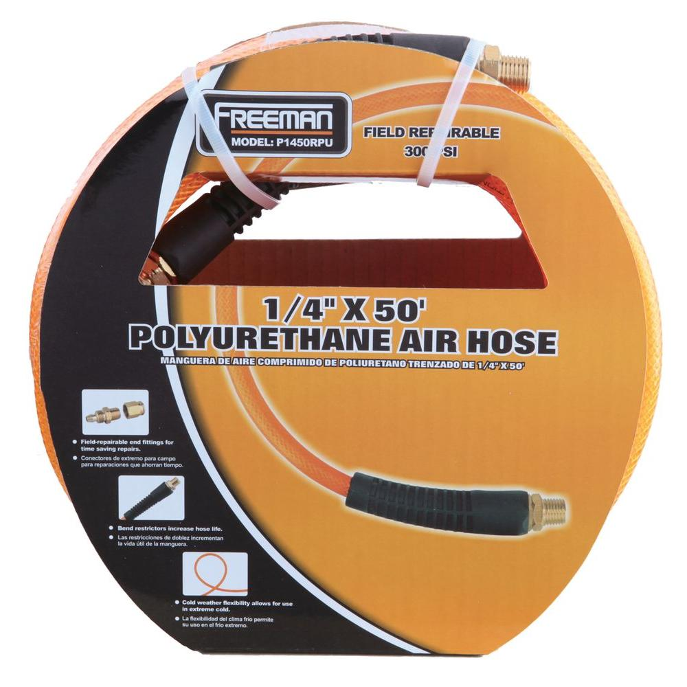 1/4 in. x 50 ft. Polyurethane Air Hose with Field Repairable