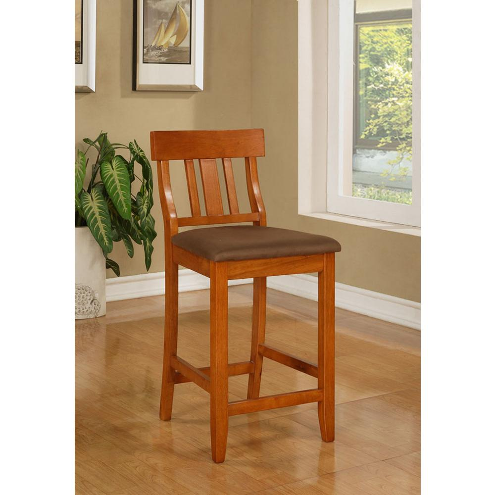 Torino 24 in. Dark Cherry Cushioned Bar Stool