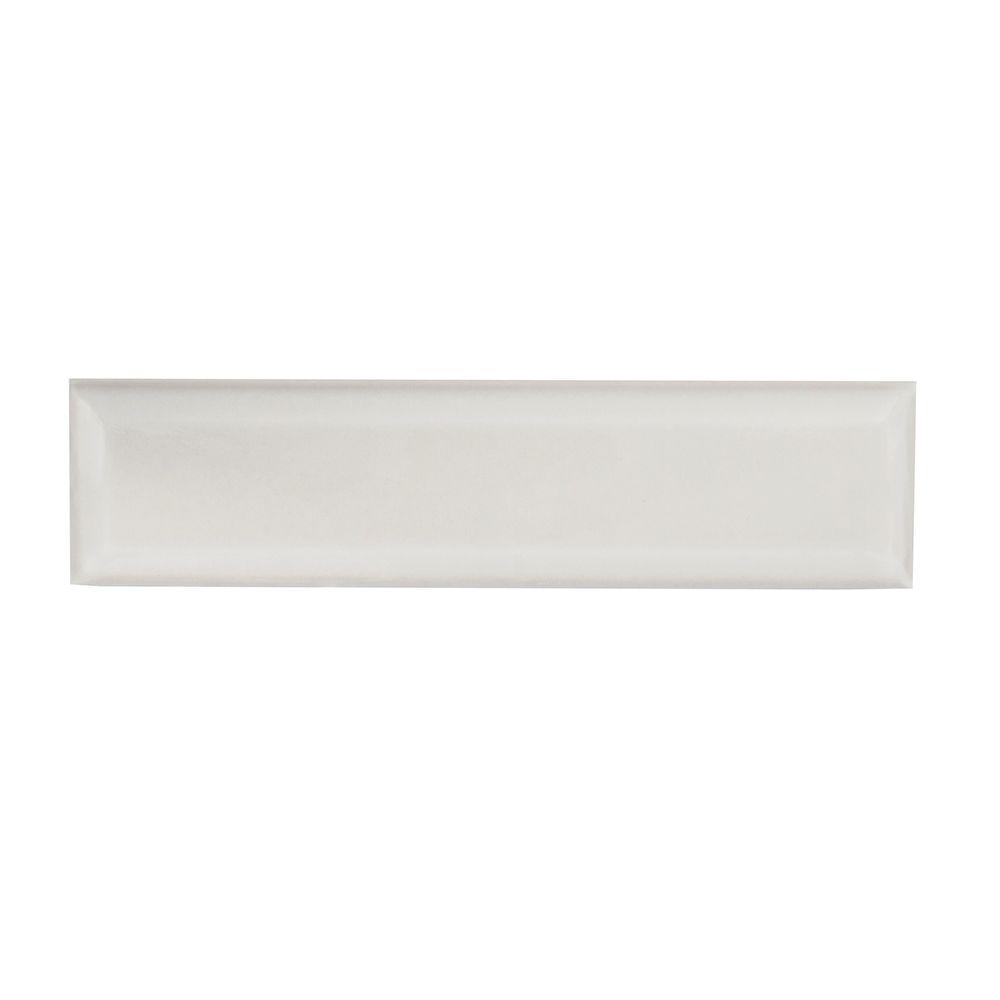 Weather Grey Bevel 3 in. x 12 in. Ceramic Wall Tile
