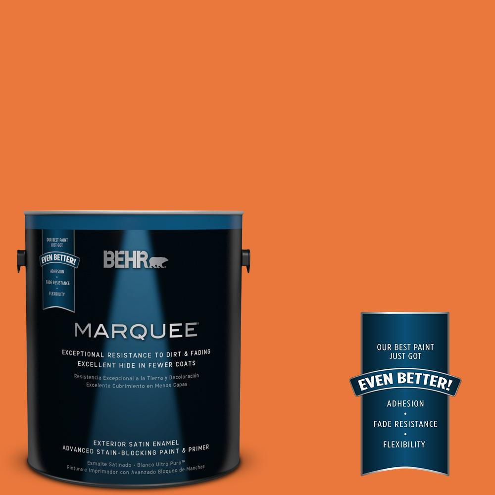 BEHR MARQUEE 1-gal. #S-G-250 Solar Flare Satin Enamel Exterior Paint