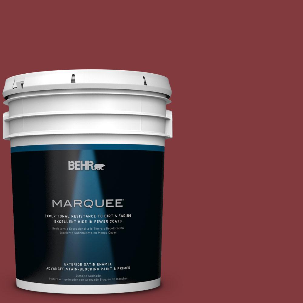 BEHR MARQUEE 5-gal. #S-H-130 Red Red Wine Satin Enamel Exterior Paint