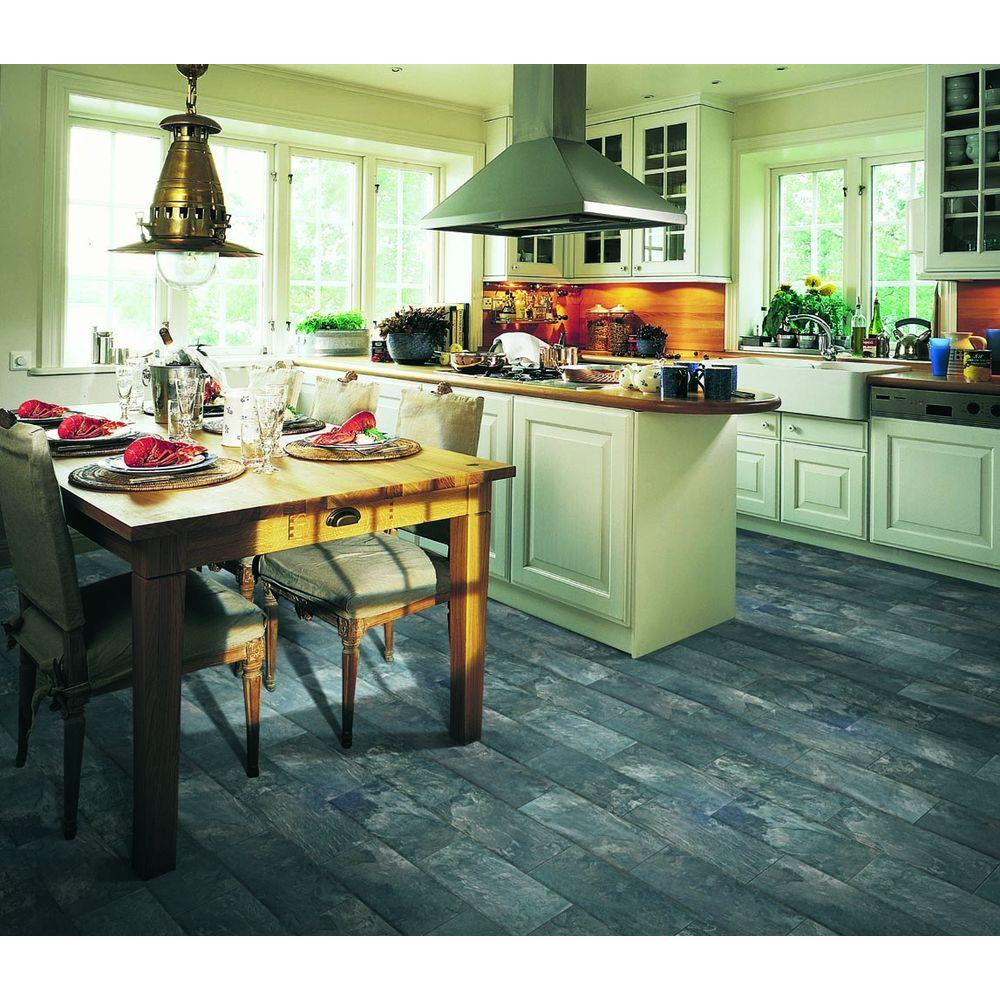 Pergo Kitchen Flooring Pergo Xp Monson Slate 10 Mm Thick X 11 1 8 In Wide X 23 7 8 In