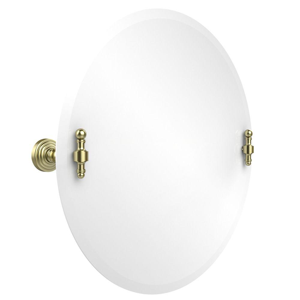 Retro-Wave Collection 22 in. x 22 in. Frameless Round Single Tilt