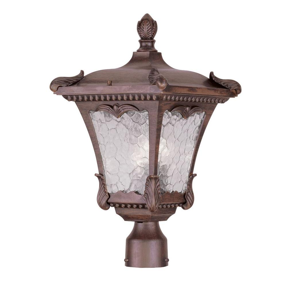 Livex Lighting Providence 3-Light 6 in. Outdoor Imperial Bronze Post Head