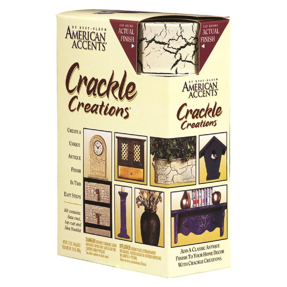 Rust-Oleum American Accents Antiqued Ivory Crackle Creations Kit
