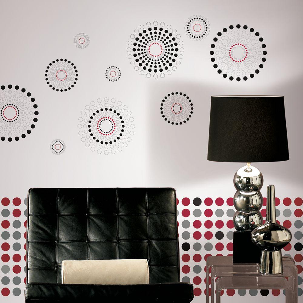 York Wallcoverings Wall In A Box Dots Fusion Accent Wall