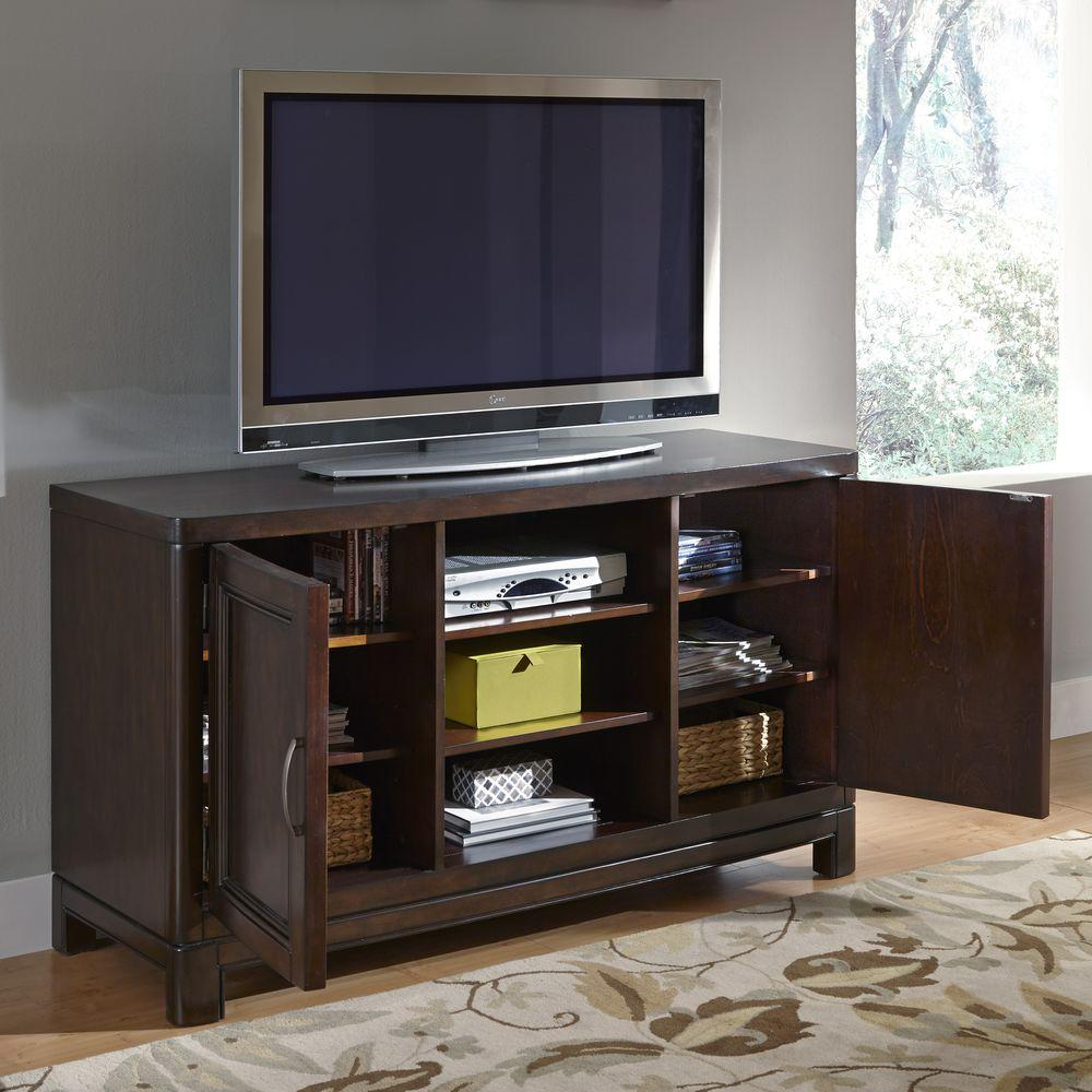 Crescent Hill Tortoise Shell Storage Entertainment Center