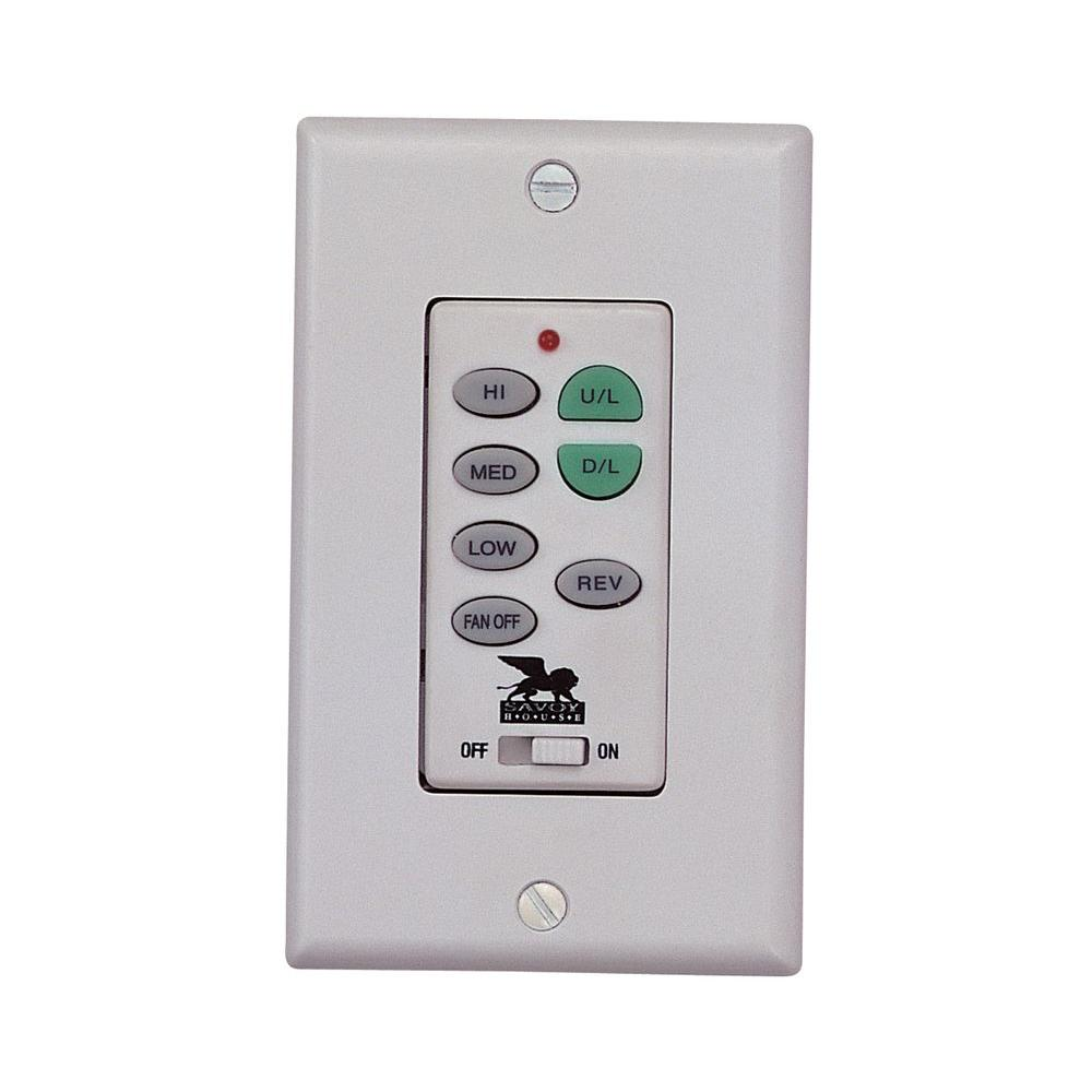 Filament Design Satin 1 in. White Ceiling Fan Wall Control