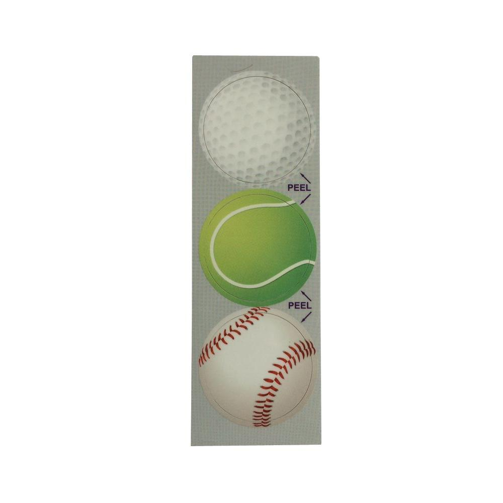 Stopper Toppers Summer Sports Decorative Bathroom Sink Stopper Laminates (Set of 3)