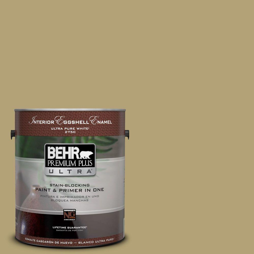 BEHR Premium Plus Ultra 1-gal. #PMD-101 Green Fig Semi-Gloss Enamel Interior