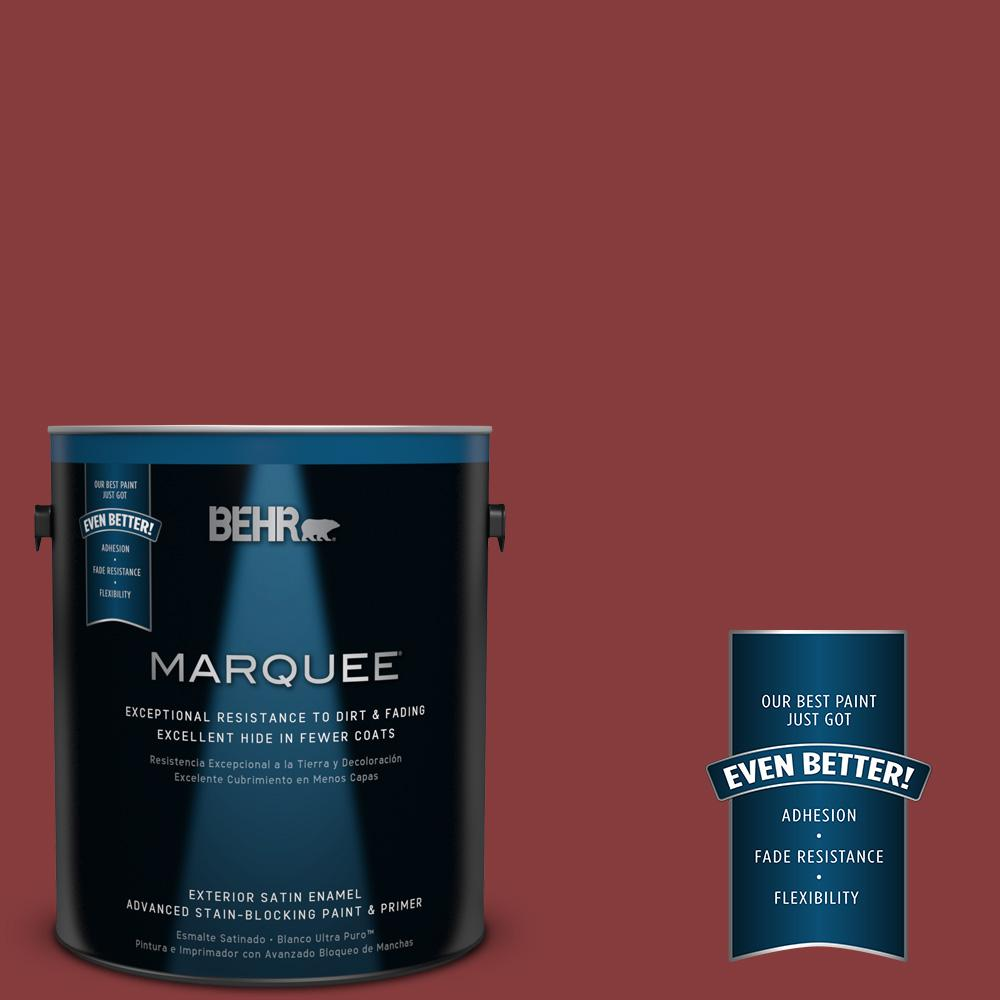BEHR MARQUEE 1-gal. #UL110-20 Apple Polish Satin Enamel Exterior Paint