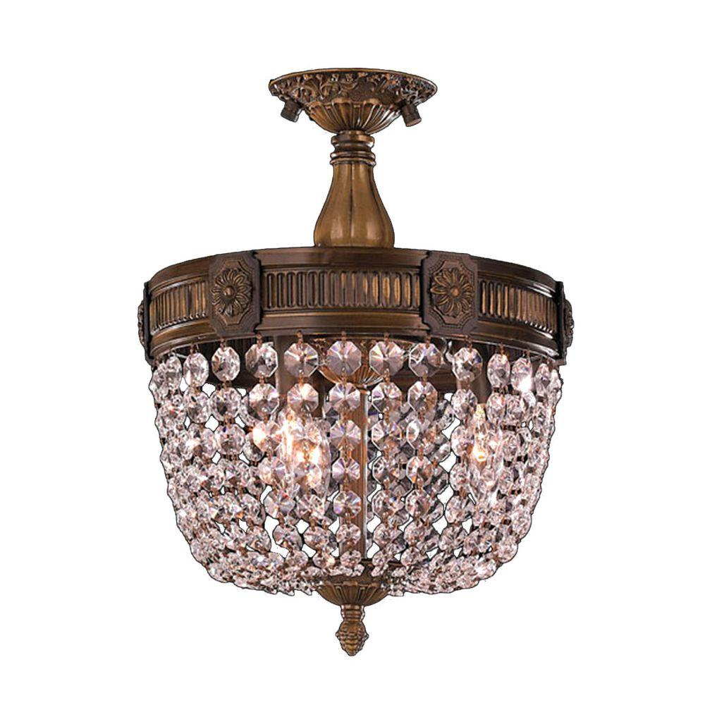 Worldwide Lighting Winchester 3 Light Antique Bronze And
