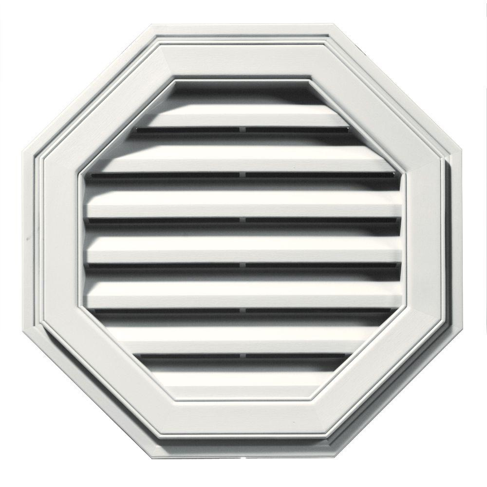 Builders Edge 22 in. Octagon Gable Vent in White