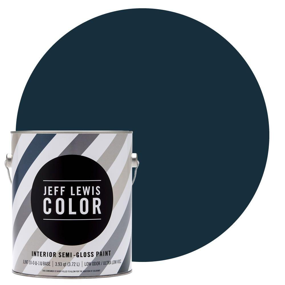 1-gal. #JLC316 Ink Blot Semi-Gloss Ultra-Low VOC Interior Paint