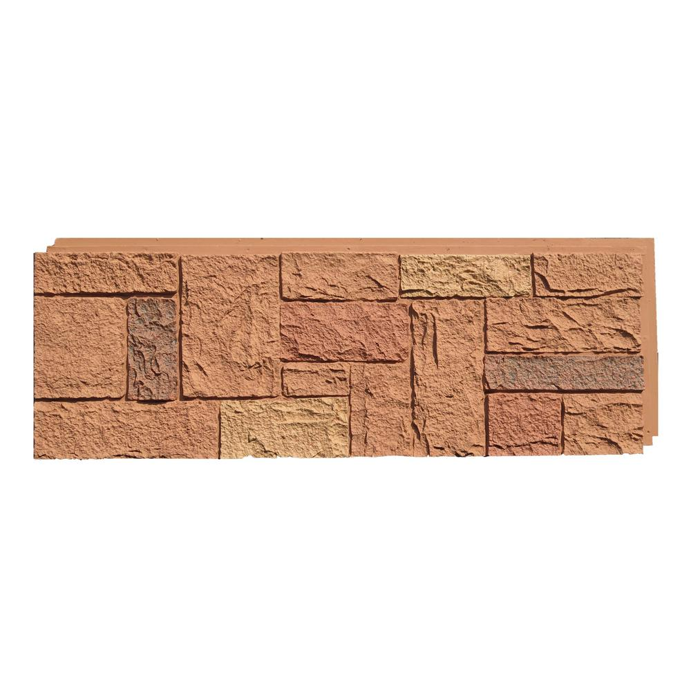 NextStone Castle Rock Canterbury Red 15 in. x 43 in. Faux