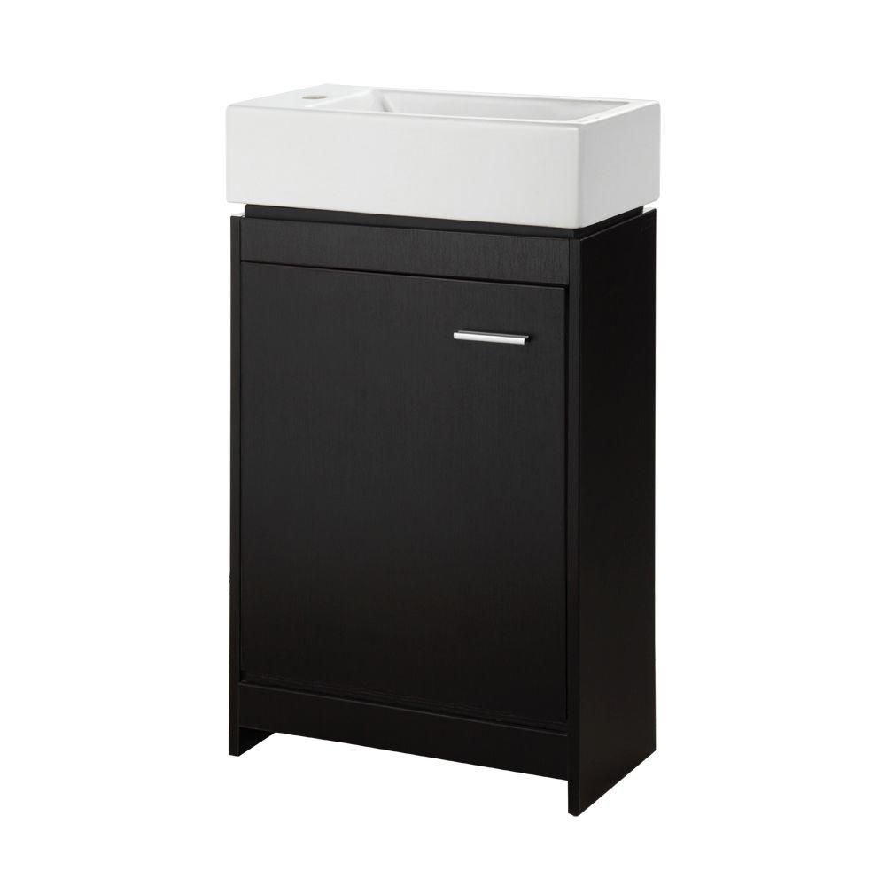 Foremost Kole 19-1/2 in. W x 9-3/4 in. D Vanity in Espresso with Vanity Top in White