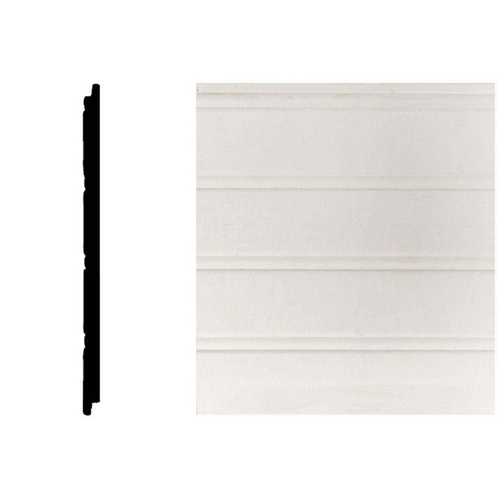 null 5/16 in. x 5-29/32 in. x 8 ft. MDF Wainscot Panel (3-Pieces)