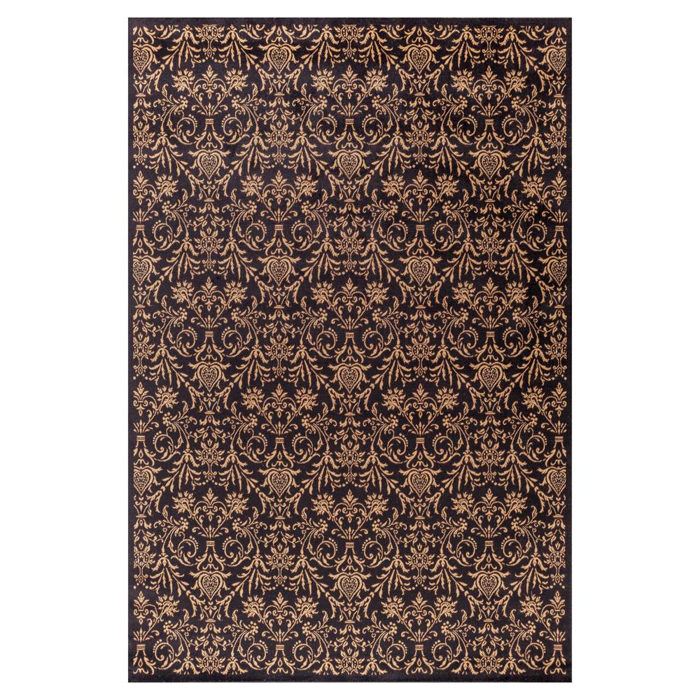 Jewel Damask Black 5 ft. 3 in. x 7 ft. 7