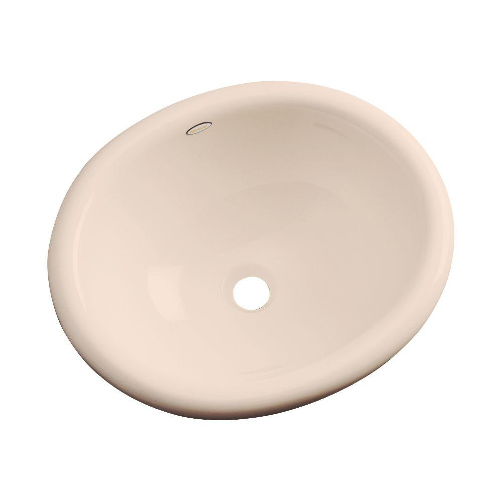 Thermocast Madeira Drop-In Bathroom Sink in Peach Bisque-86007 - The Home