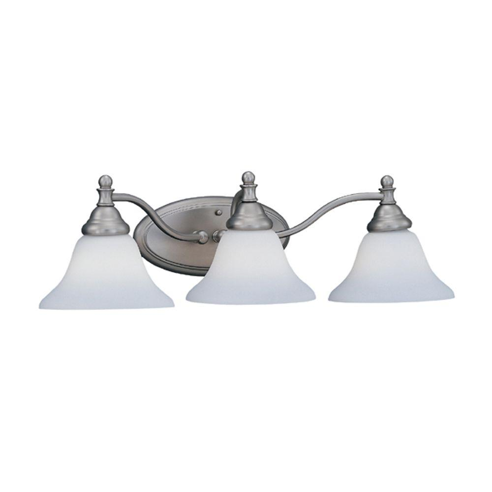 Ellsworth Collection 3-Light Pewter Wall Mount Vanity Light