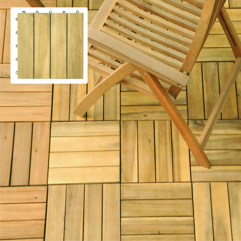 Vifah Roch 4 Slat Style Hardwood Deck Tile-A3458.488.5.11 - The Home