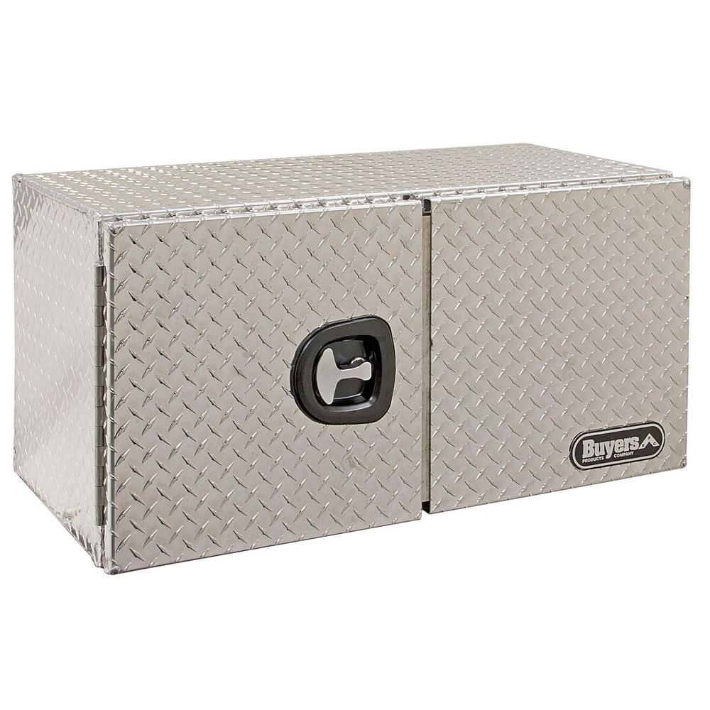 36 in. Aluminum Double Barn Door Underbody Tool Box with T-Handle