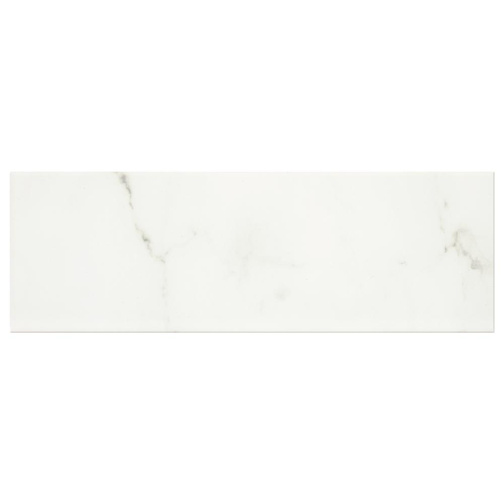Developed by Nature Calacatta 4 in. x 12 in. Glazed Ceramic