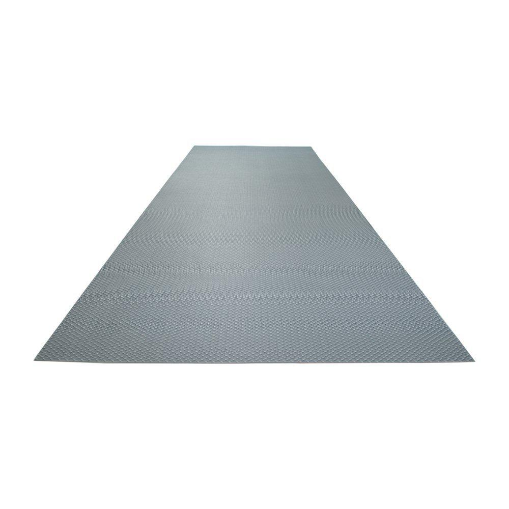 2 ft. 5 in. x 9 ft. Diamond Plate Grey Commercial
