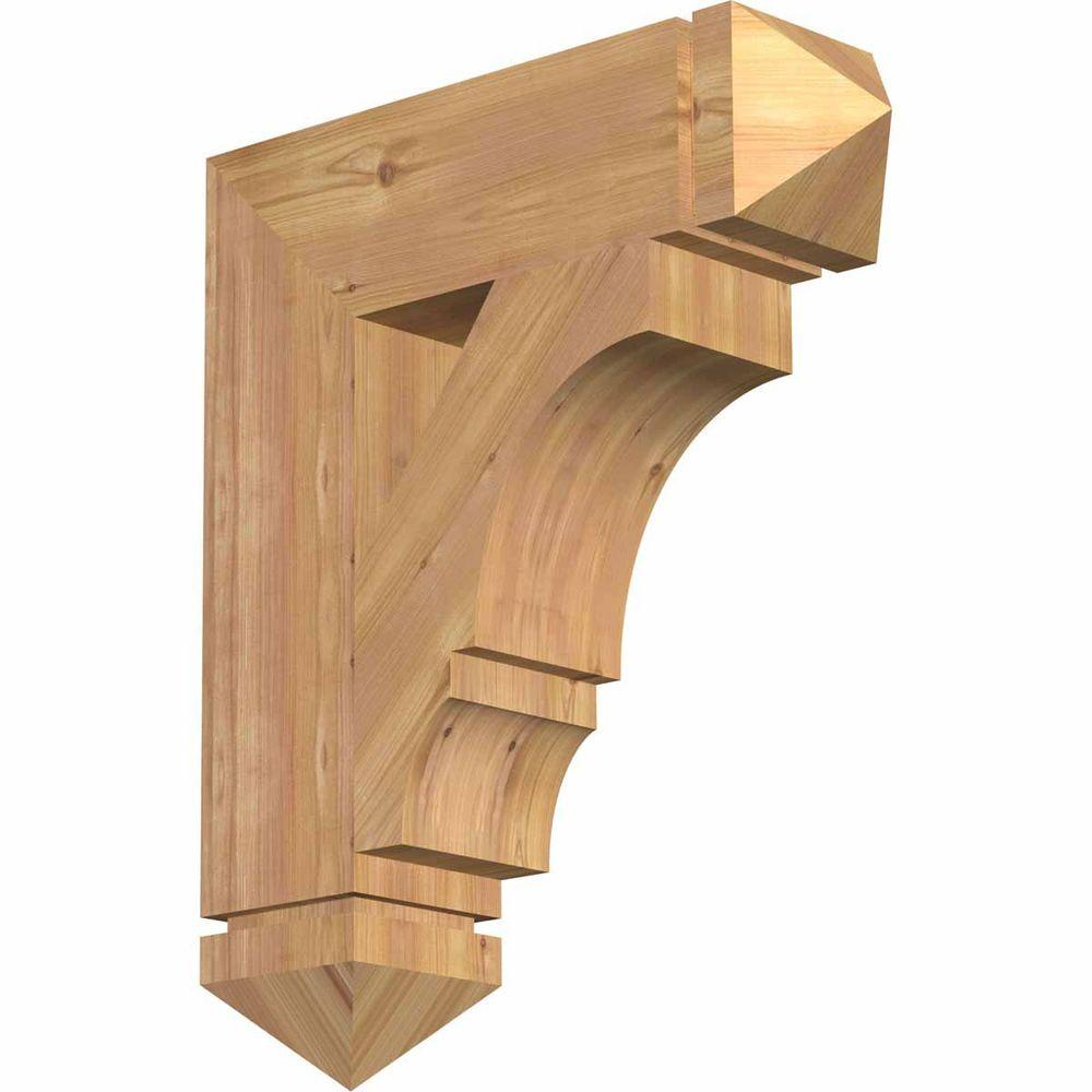 Ekena Millwork 5.5 in. x 26 in. x 22 in. Western Red Cedar Balboa Arts and Crafts Smooth Bracket