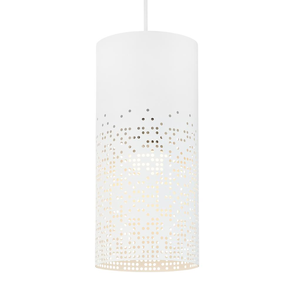 Crossblend 1-Light White Pendant