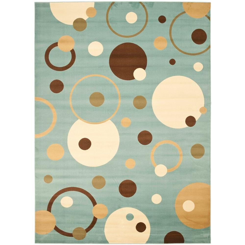 Porcello Blue/Multi 4 ft. x 5 ft. 7 in. Area Rug
