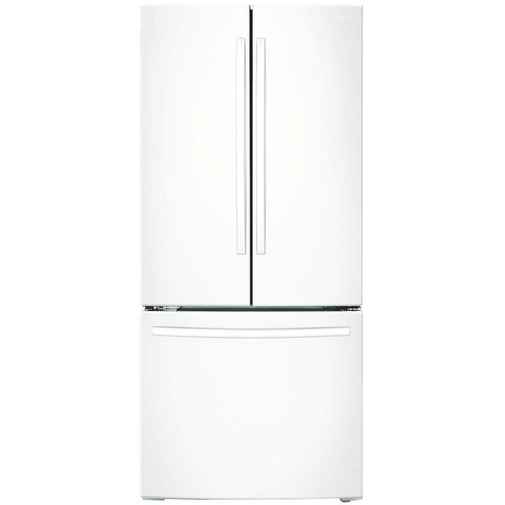 33 in. W 17.5 cu. ft. French Door Refrigerator in White,