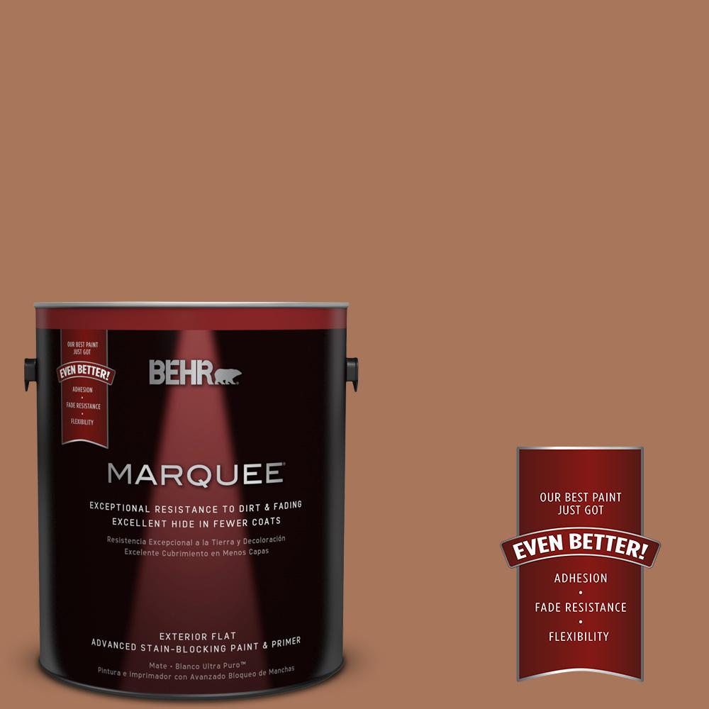 BEHR MARQUEE 1-gal. #240F-5 Toasted Chestnut Flat Exterior Paint
