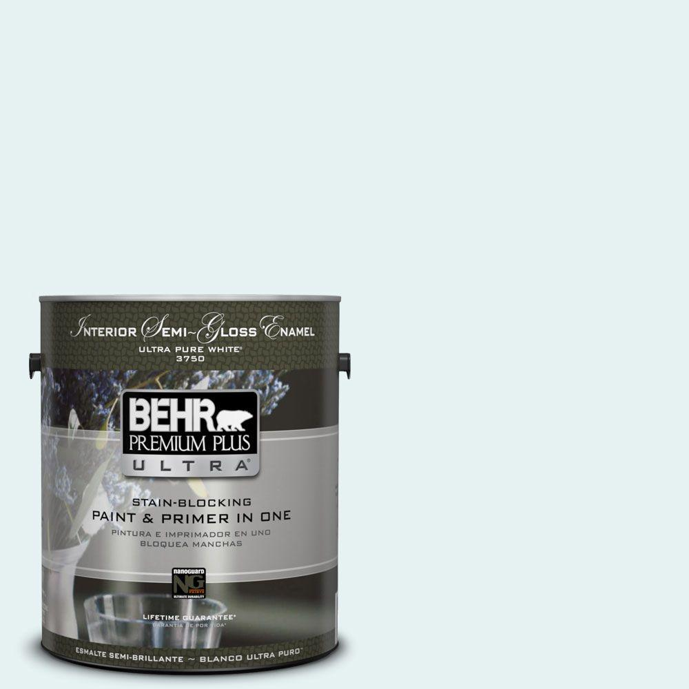 BEHR Premium Plus Ultra 1-gal. #BL-W4 Ethereal White Semi-Gloss Enamel Interior