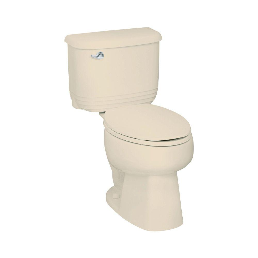 STERLING Riverton 2-piece 1.6 GPF Elongated Toilet in Almond