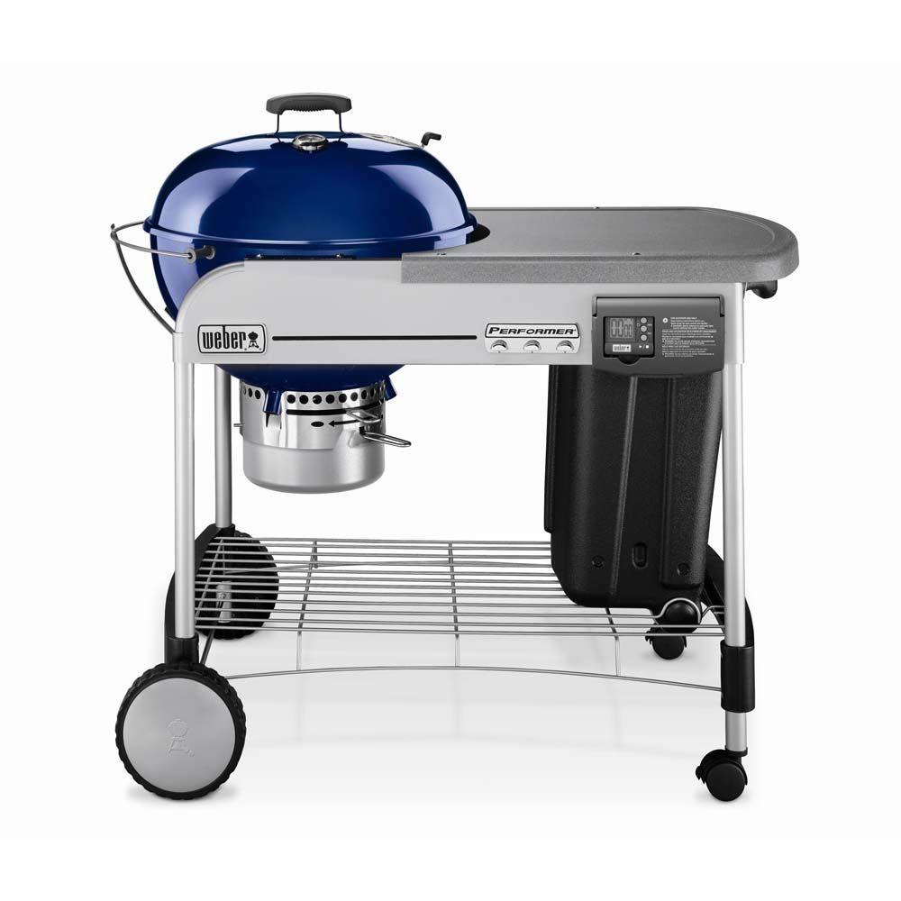 Weber Performer Platinum 22.5 in. Charcoal Grill in Dark Blue-DISCONTINUED