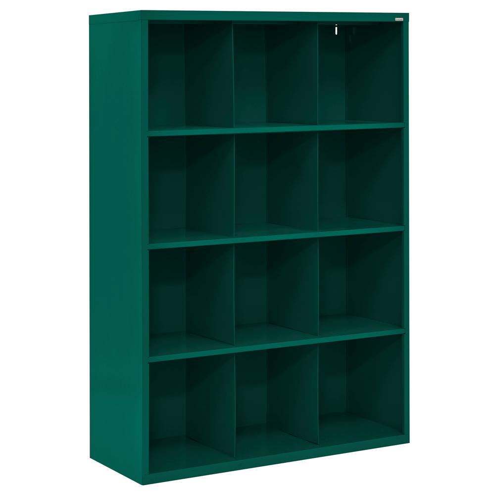 Cubby 46 in. x 66 in. Forest Green 12-Cube Organizer