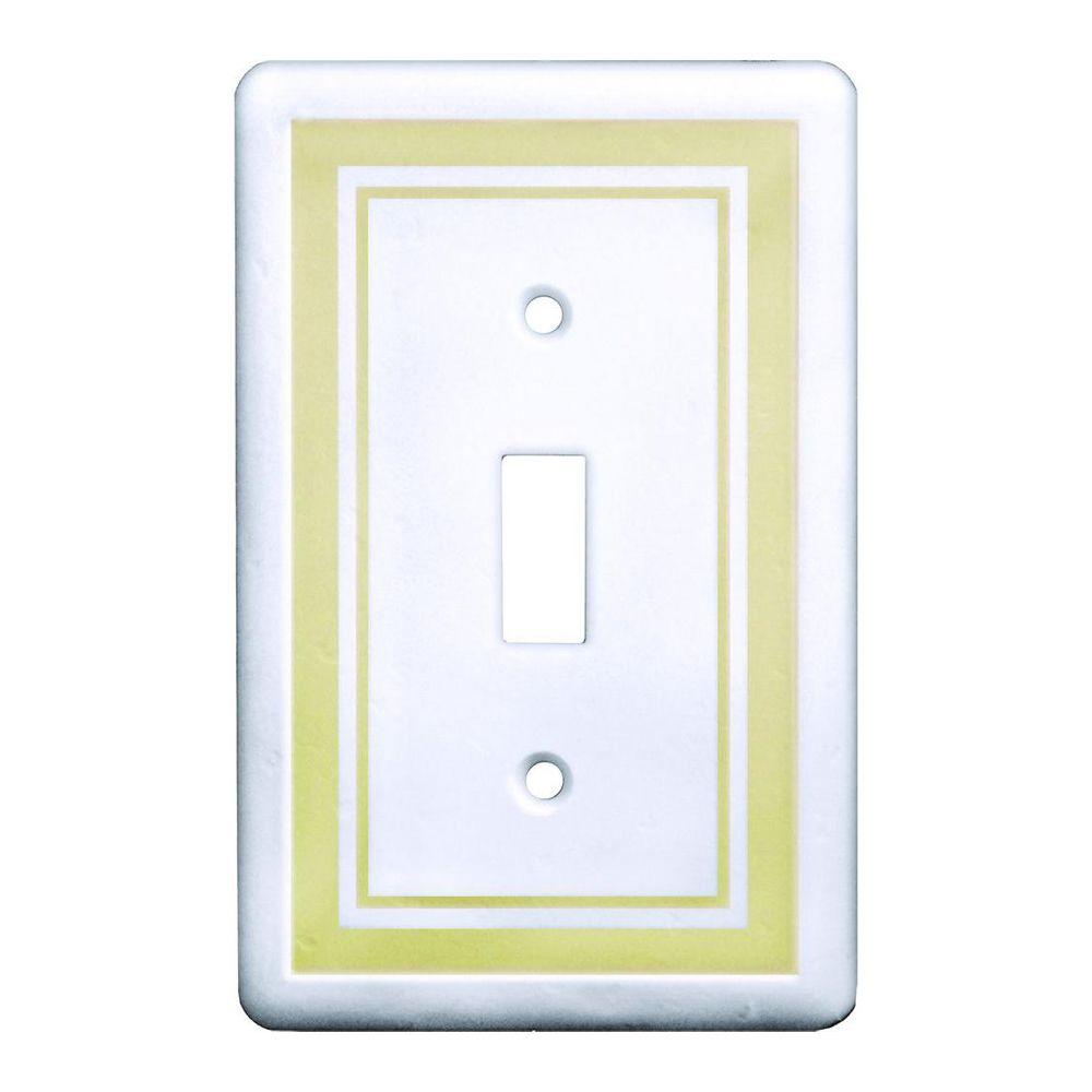 1 Toggle Wall Plate, Beige